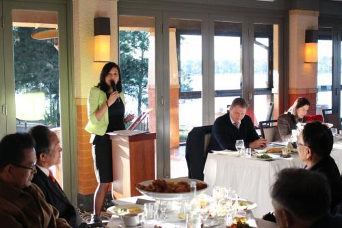 Speaking at a Breakfast Forum - in picture Senator Concetta Fierravanti-Wells Craig laundy MP  Strathfield Mayor Sang Ok